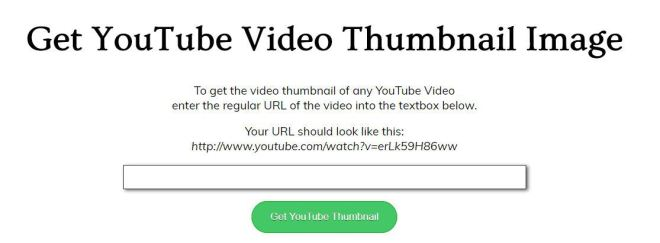 Get YouTube Video Thumbnail