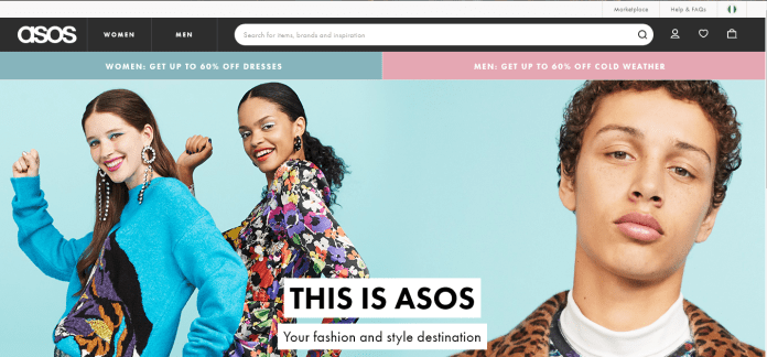 Asos ships from abroad to Nigeria