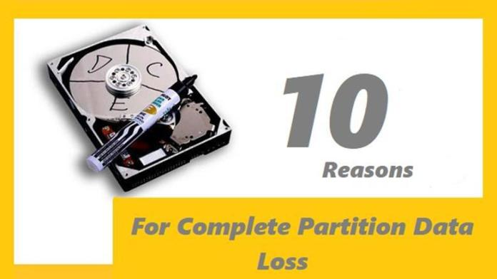 The Reasons for Partition Data Loss on Hard Disk Drives