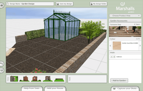 Marshalls Garden Visualiser software