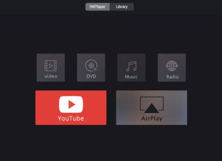 5kplayer main user interface