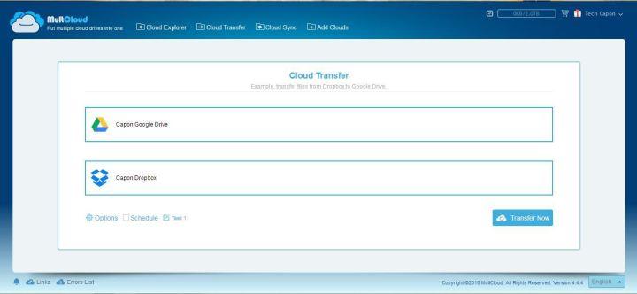 MultCloud Transfer features