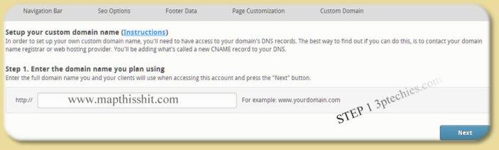 custom domain name for empower network