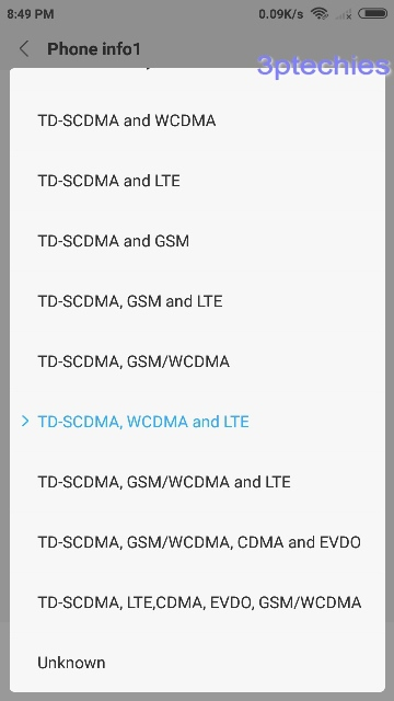 force 3g/4g lte only mode settings on Android
