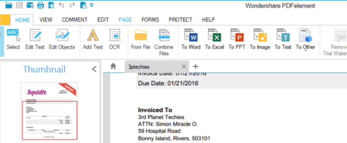 wondershare PDF editor converts pdf to word effectively