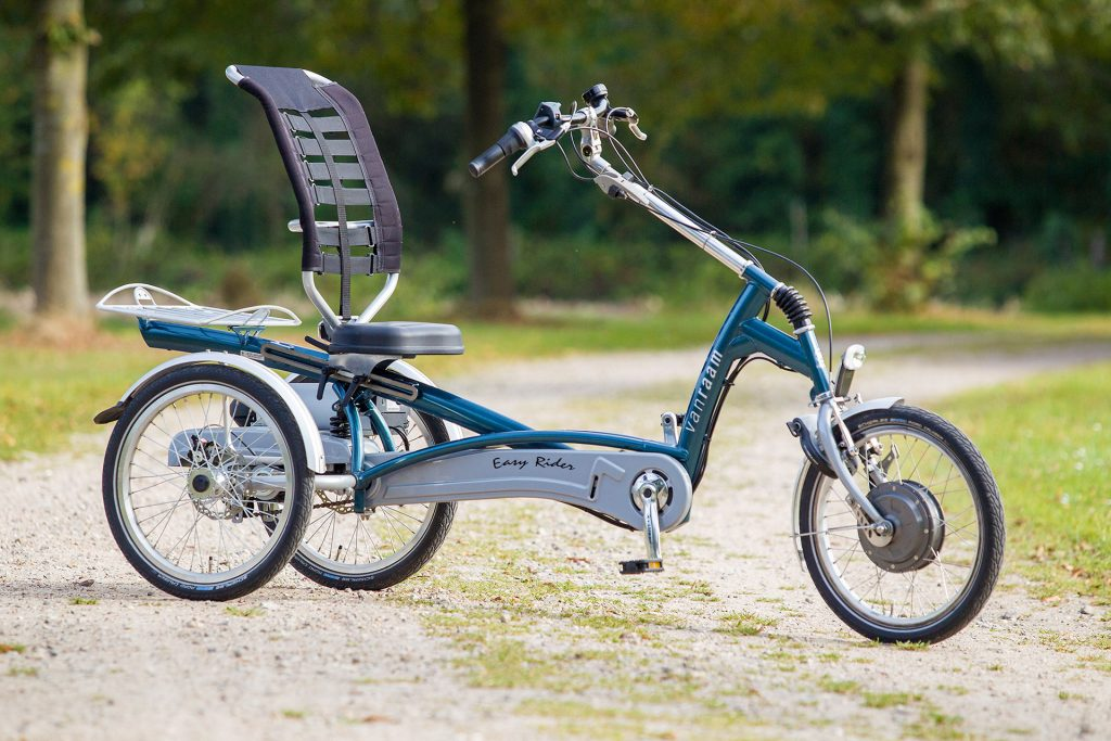 Dreirad mit Elektromotor Van Raam Behindertenrad Behindertenräder Rollstuhlrad Rollstuhlräder Dreiradtandem Tandem Tandems Therapierad Therapieräder Seniorenrad Seniorenräder kaufen