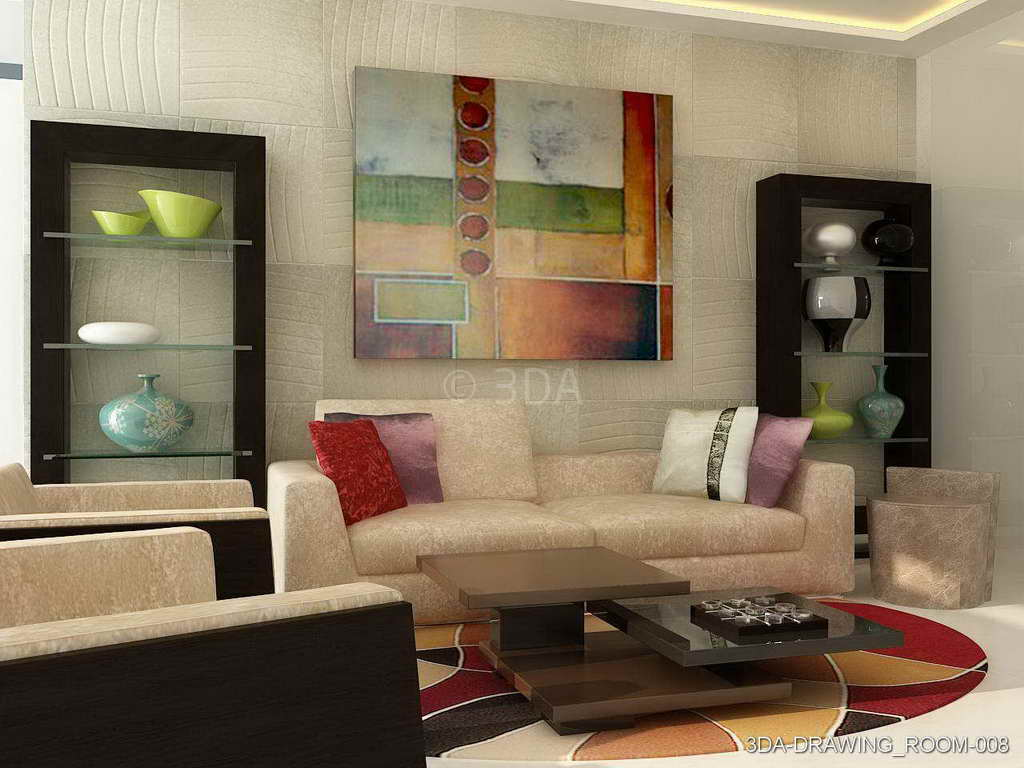 3DA Best Drawing Room Interior Decorators In Delhi And