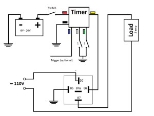 Multifunctional Timer  Off Delay Timer Relay at 3rd Brake Flasher