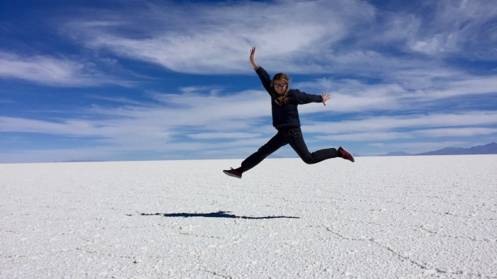 Jumping Picture at Salar de Uyuni