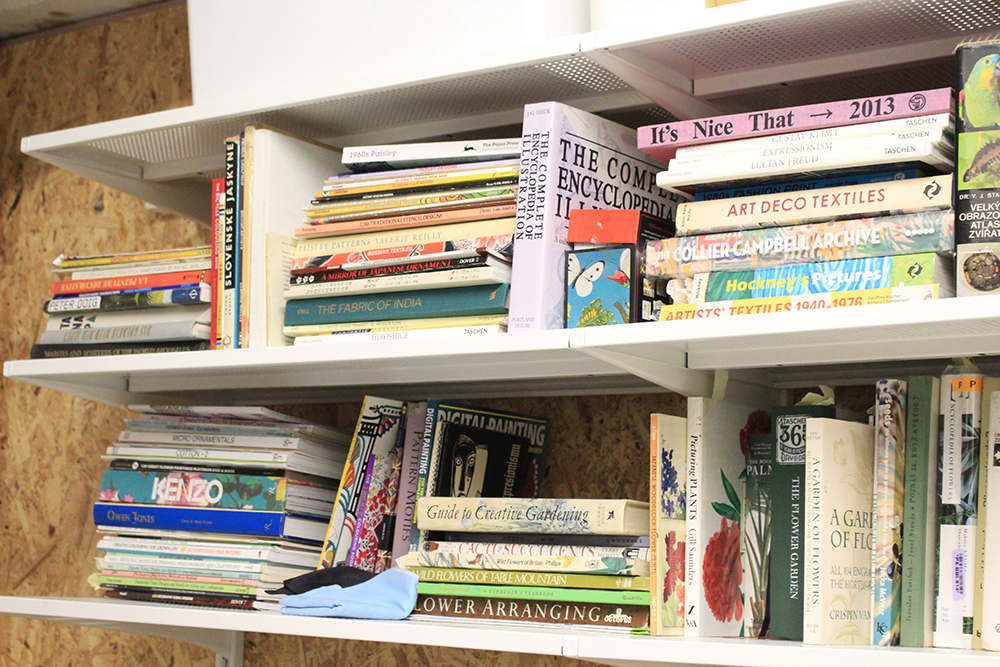 Fairbairn and Wolf inspiration books in the studio