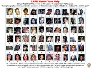 """Photographs found in the possession of serial murder suspect Lonnie David Franklin Jr., dubbed the """"Grim Sleeper"""", recovered by the Los Angeles Police Department (LAPD) are seen in this handout image released December 16, 2010. REUTERS/Los Angeles Police Department/Handout"""