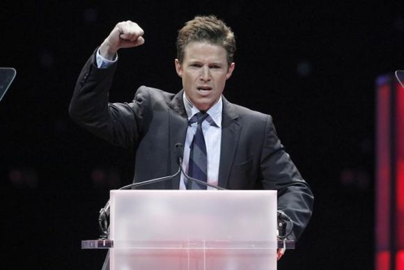 Billy Bush hosts the CinemaCon Big Screen Achievement Awards in Las Vegas on April 26, 2012. Photo by Steve Marcus.