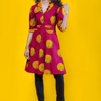 The Tura Top 3reec's Chic Creations and Collections Red Yellow Ankara Dashiki Kente African Print Ankarastyles Ethnic Tribal Midi Dress
