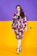 The Hibiscus Peplum Jacket 3reec's Red White Blue Floral Ankara African Print Dashiki Midi Retro Chic Fashion Spring Summer 2017 Freedom Collection