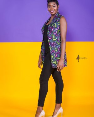 The Tootsie Suit Vest Jacket 3reec's Purple Blue Green Pink Floral Ankara African Print Dashiki Retro Chic Fashion Spring Summer 2017 Freedom Collection SS17