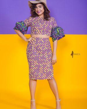The Tootsie Bella Crop Top 3reec's Yellow Purple Blue Green Pink Floral Ankara African Print Dashiki Retro Chic Fashion Spring Summer 2017 Freedom Collection SS17