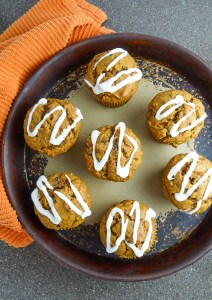 fancy fall pumpkin muffins
