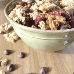 Quick & Easy Cherry Almond Granola (With coconut oil)