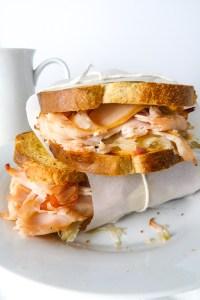 skinny turkey reuben sandwich (rachel sandwich)