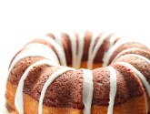 red velvet + cream cheese bundt cake