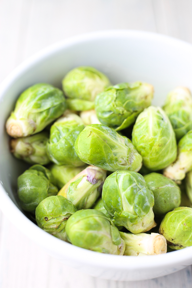 brussels sprout and broccoli salad with toasted walnuts