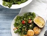 simple kale and couscous salad with apricot vinaigrette