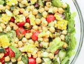 farmer's market veggie and chickpea salad
