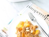 Colorado peach crisp