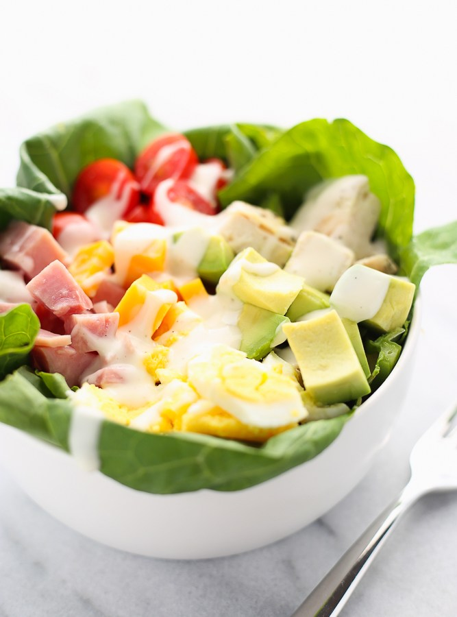 reverse chef's salad collard wrap