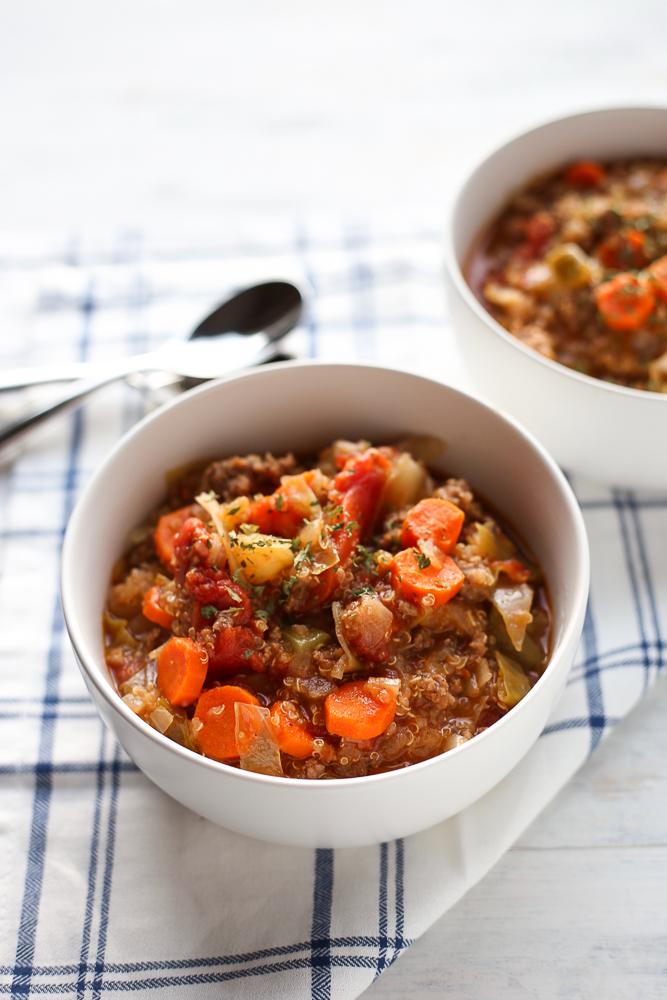 best hamburger soup with quinoa