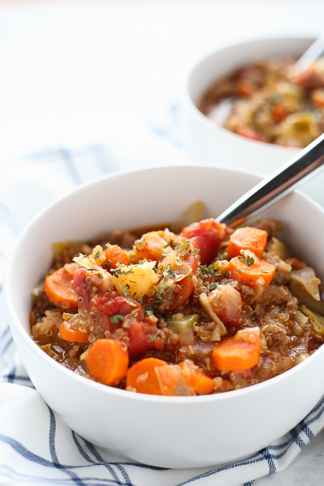 best hamburger soup with quinoa