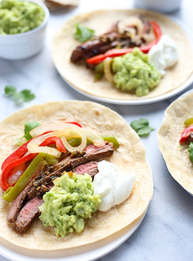cilantro lime marinated steak fajitas