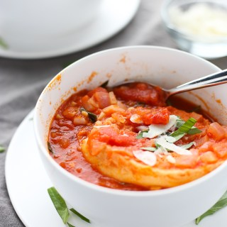 best chunky tomato soup with tuscan bread