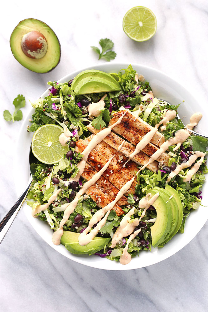 Chicken Chopped Salad With Quinoa And Black Beans 3 Scoops Of Sugar