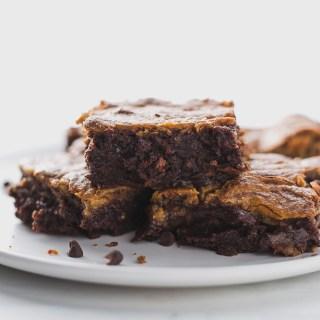 Best Flourless Tahini Swirled Brownies
