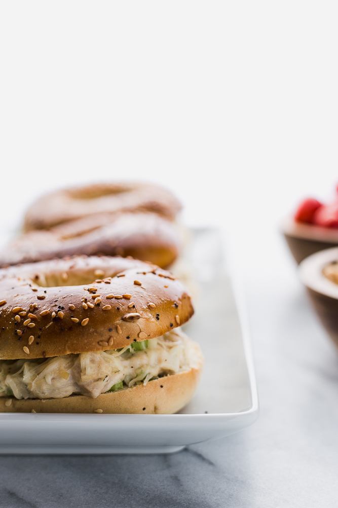 Toasted Tuna Everything Bagels