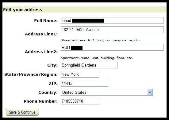 شرح كيف تكتب عنوانك فى مواقع التسوق التسوق الالكتروني