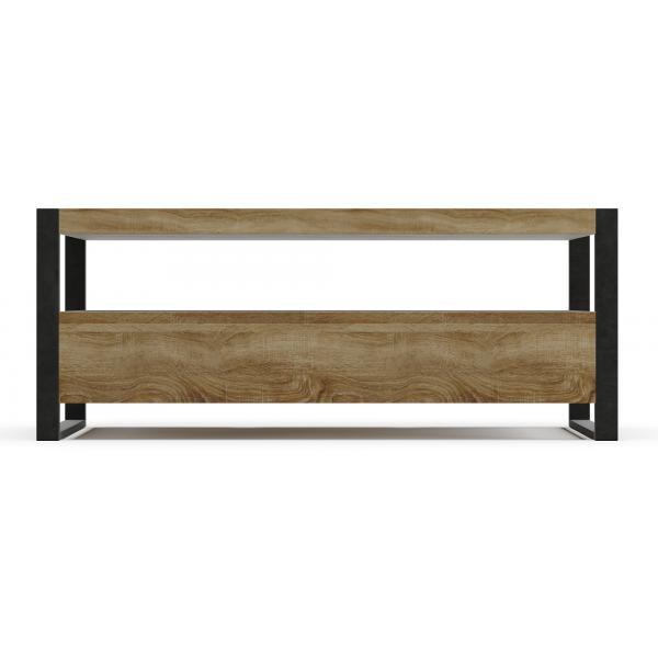 meuble tv en bois et metal darren
