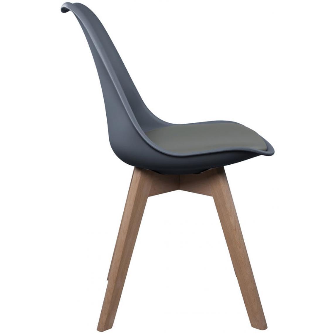 chaise scandinave coque grise avec