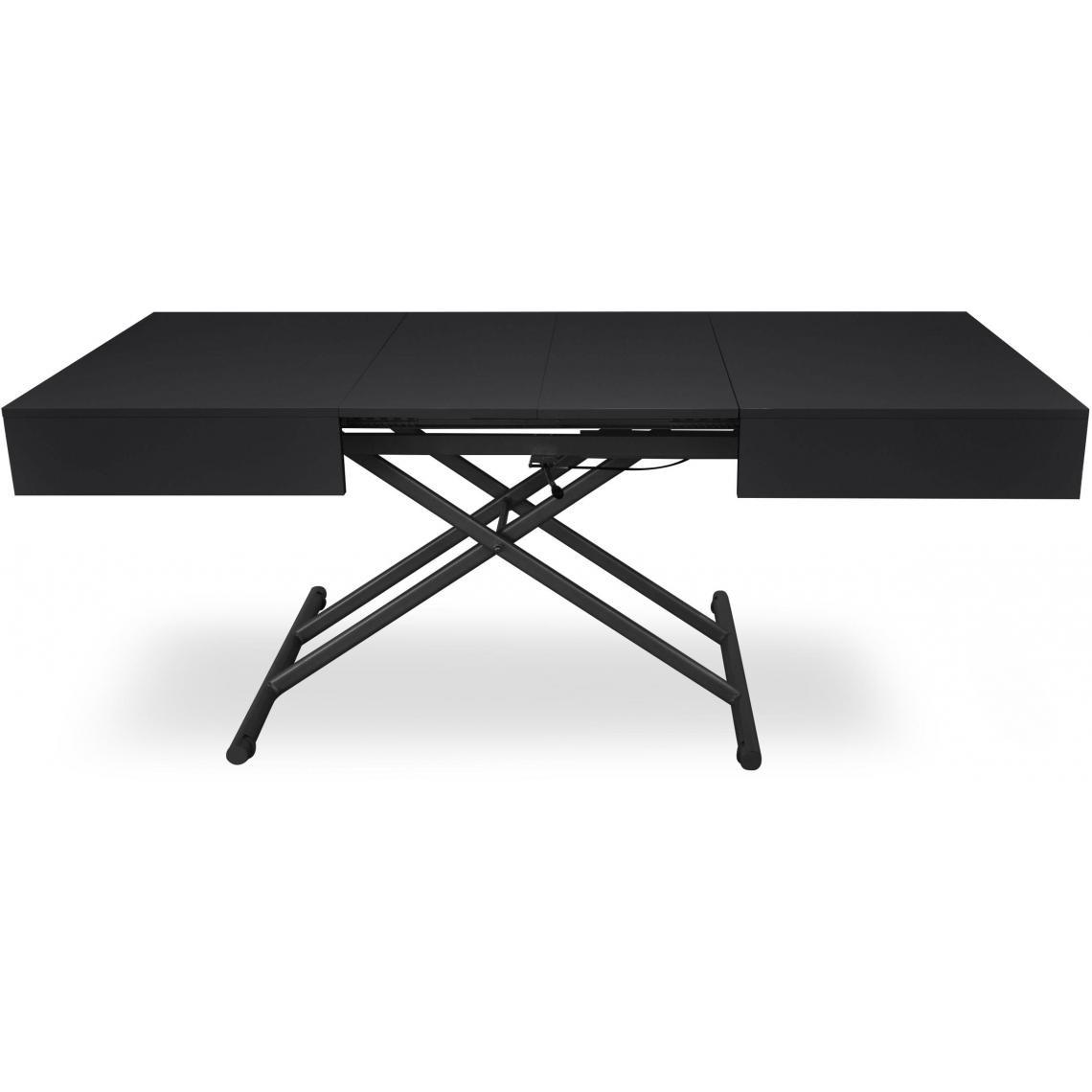 table basse relevable noir mat cassy