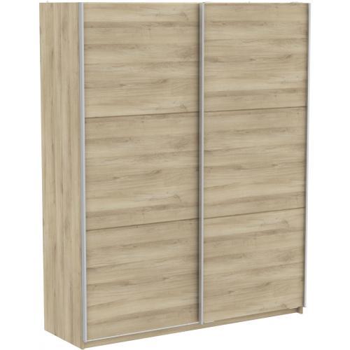 armoire beige avec 2 portes coulissantes 180cm scheffer 3s x home
