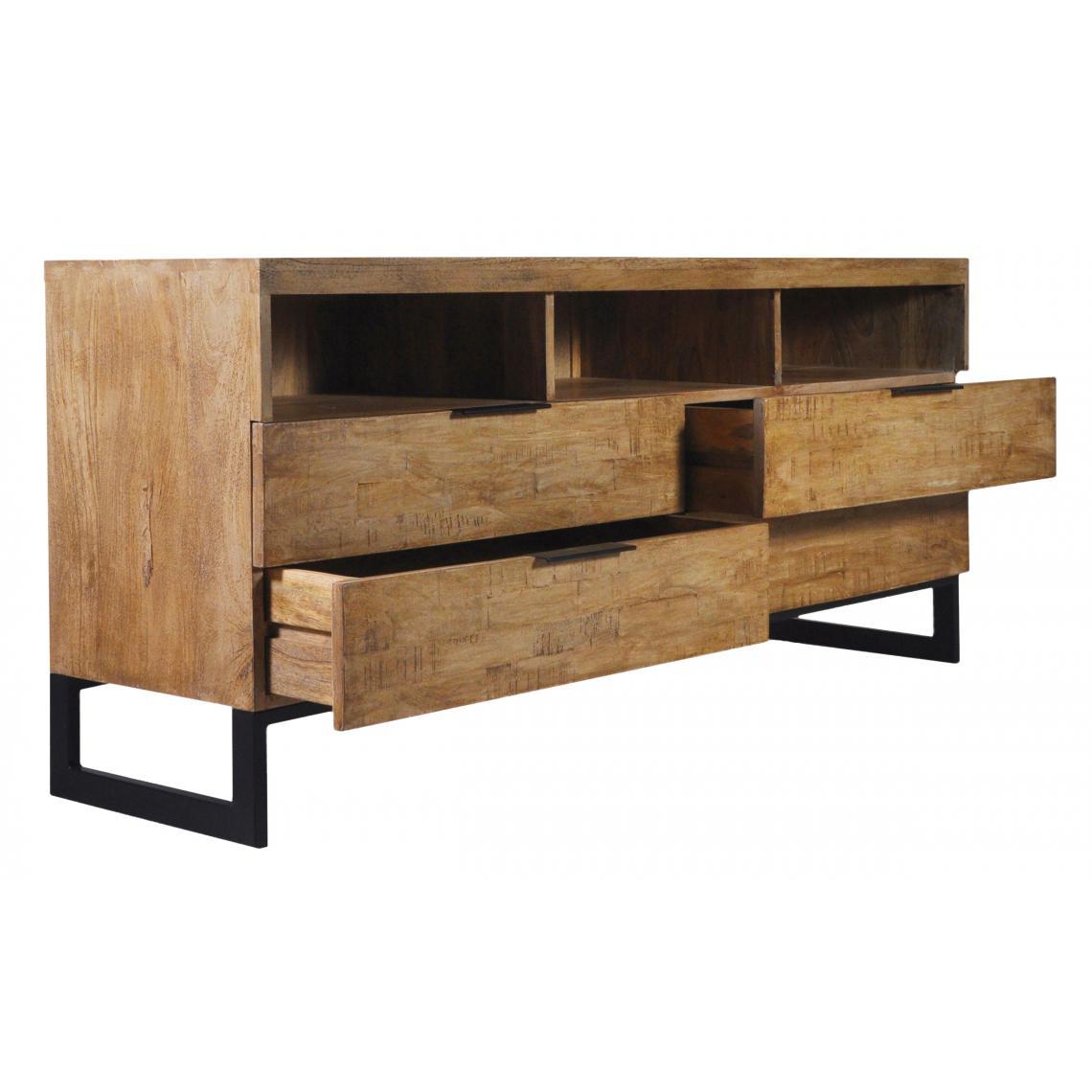 meuble tv en bois massif chene clair