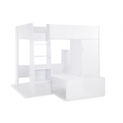 lit combine 2 couchages blanc ninna 3s x home