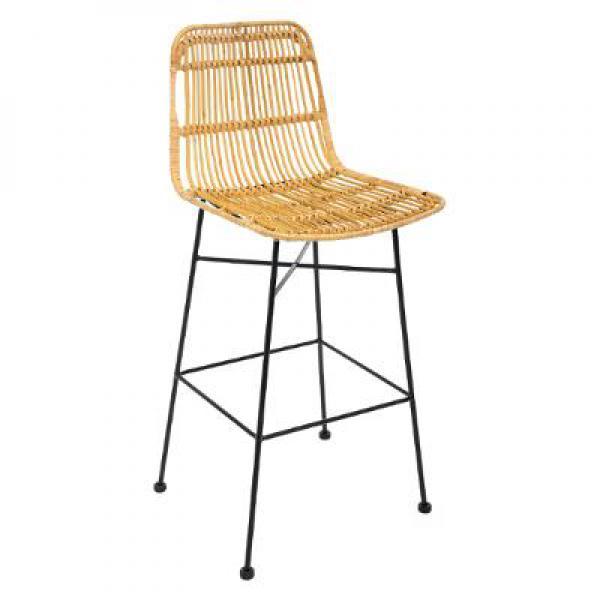 chaise de bar en rotin automn
