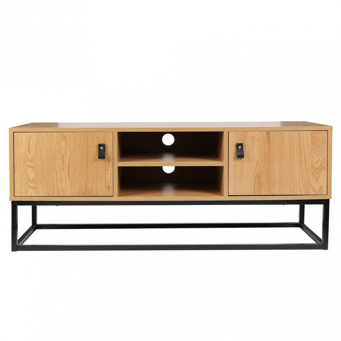 meuble tv industriel bois et metal