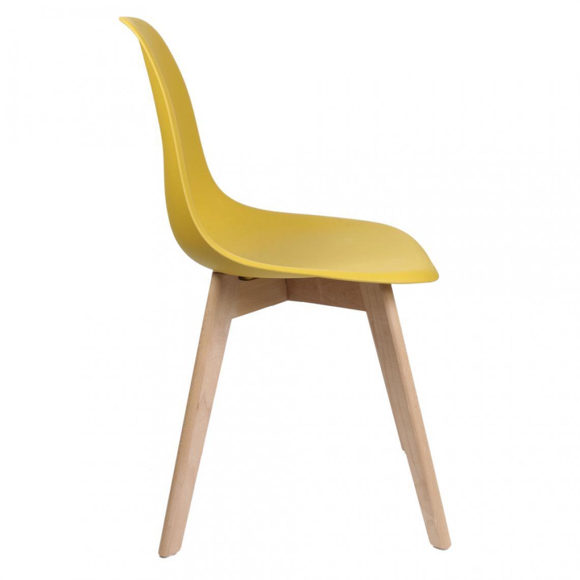 chaise scandinave jaune vadsa 3 suisses