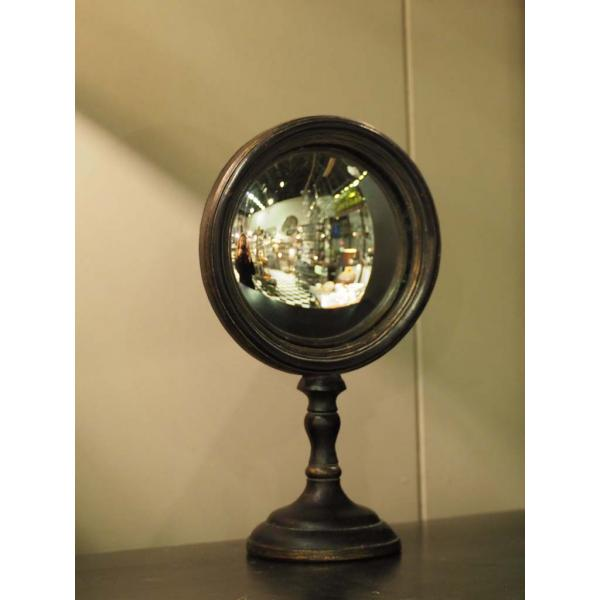 petit miroir bombe convexe sur pied prika