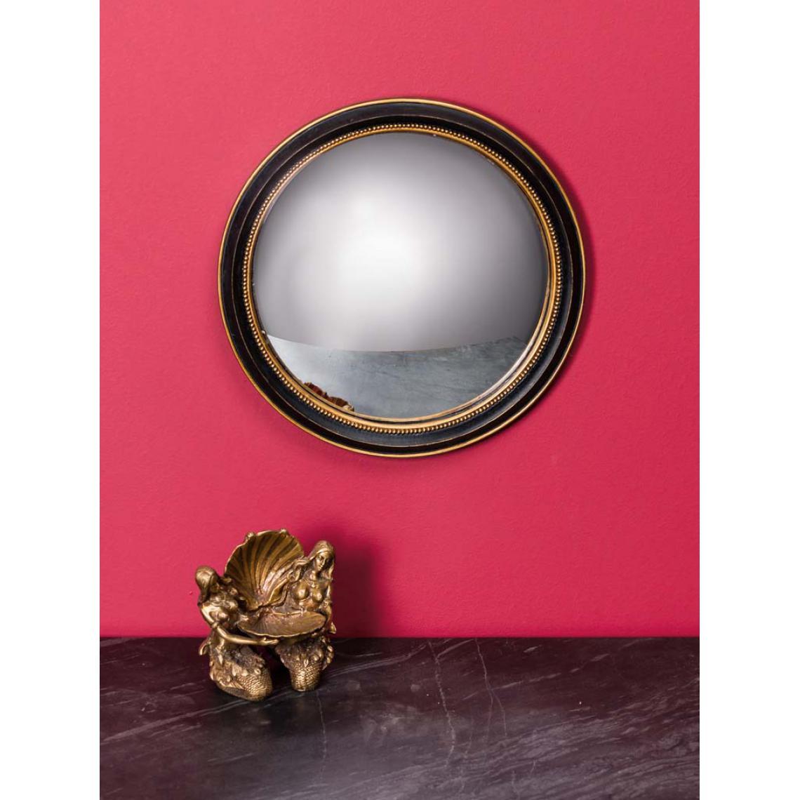 miroir convexe 23cm bord or litic 3