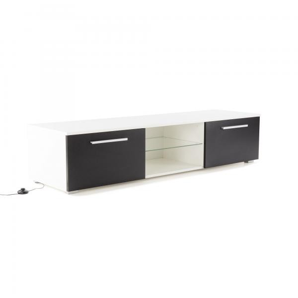 meuble tv led noir et blanc esia