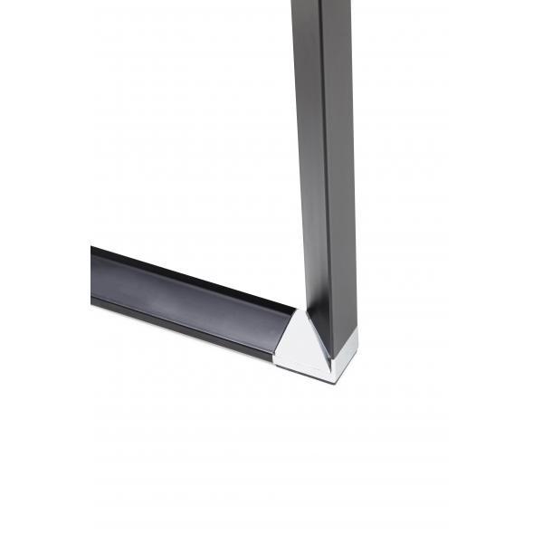 bureau d angle en verre diamond noir